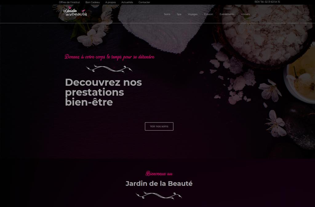 DigitalMKT - Lejardindelabeaute - Accueil